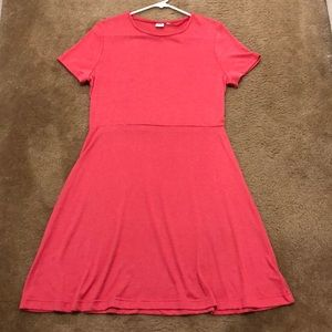 EUC Gap Pink Fit and Flare Dress